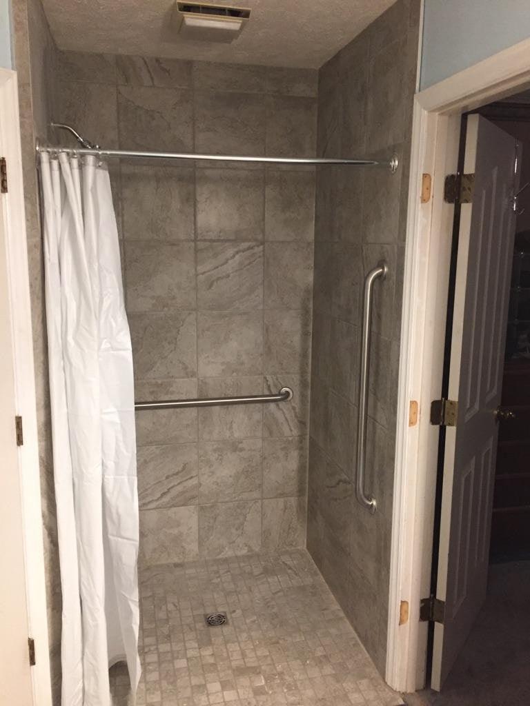 Roll In Tile Shower