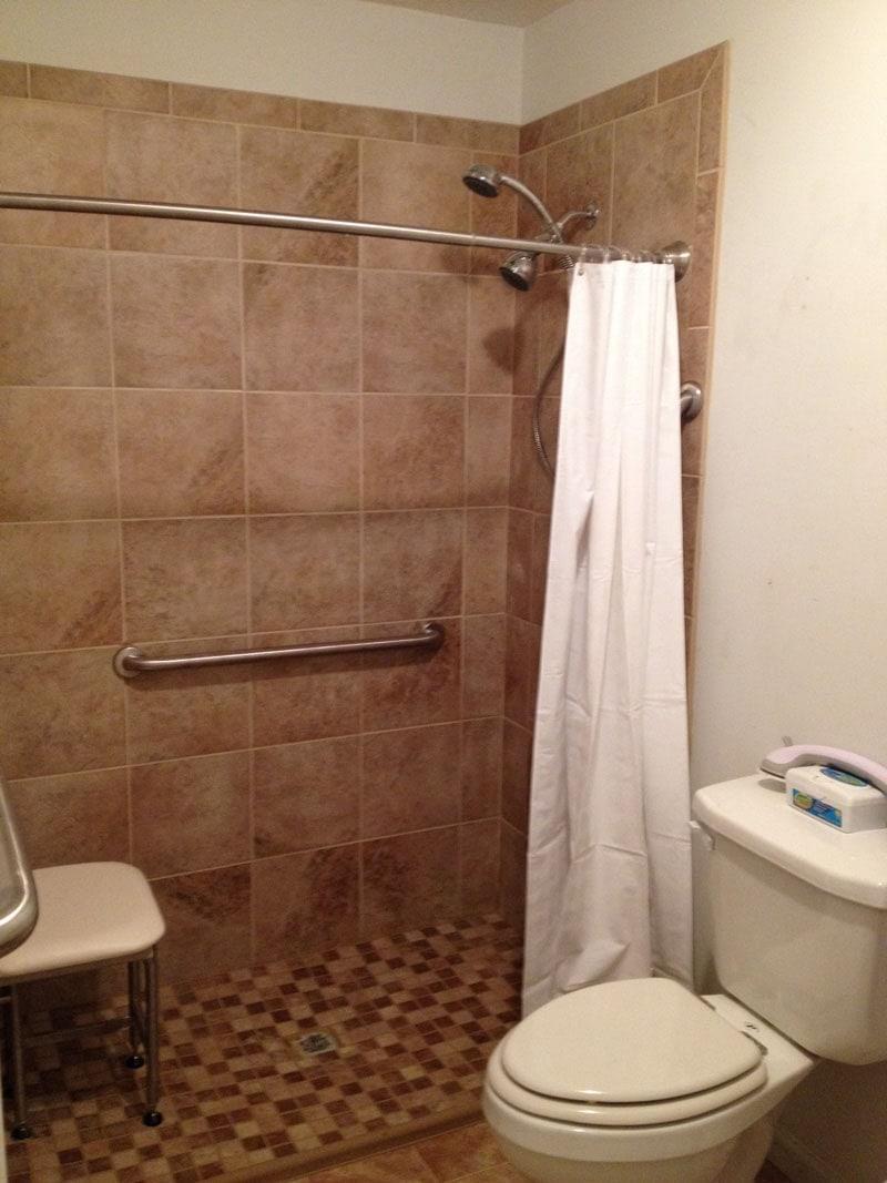 Standard Roll in Shower