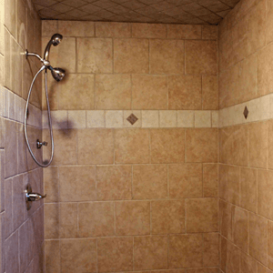 Large Tile Roll In Shower